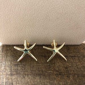 Gold Tone Starfish Earrings